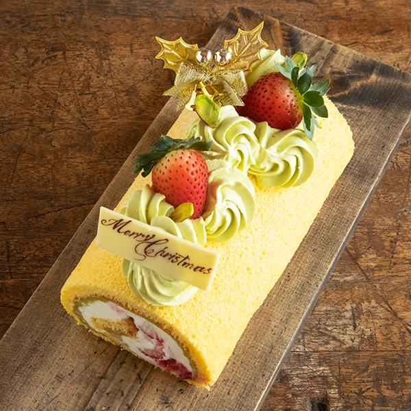 苺とピスタチオのロール